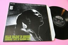 BILLIE HOLIDAY LP IN CONCERT ITALY ORIG 1968 EX TOP LAMIANTED COVER JAZZ