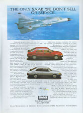 """Saab """"The Only Saab We Dont Sell"""" 1986 Magazine Advert #3915"""