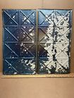 """2pc Lot of 24"""" by 12"""" Antique Ceiling Tin Metal Reclaimed Salvage Art Craft"""