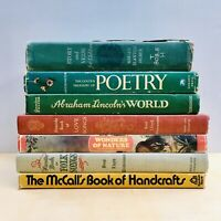 Lot of 7 Vintage Books Instant Library Decor Folk Songs Book Stack Set Staging