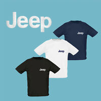 JEEP T Shirt EMBROIDERED Auto Car Logo Tee Mens Clothing Accessories Gift Sport