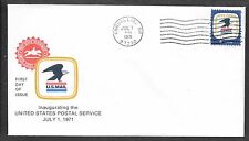 U.S. # 1396 POSTAL SERVICE EMBLEM  Corvallis OR  FDC