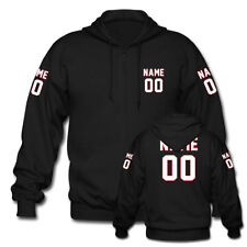 Custom Personalized Name and Number Front Back Both Sleeves Print Zipper Hoodies