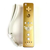 Gold Legend of Zelda Wii Remote Motion Plus Official Authentic RARE TESTED Works
