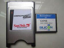 SiliconDrive  64MB Compact Flash +ATA PC card PCMCIA Adapter JANOME Machines