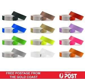 100 Pack CHEAPEST Tyvek Event ID Paper Wristbands Festival Party Security Bands
