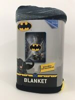 "DC Comics Batman Plush Blanket 62"" x 90"" Full Size Kids Bedding Throw Blankets"