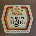 VINTAGE CANADIAN BEER LABEL - MOLSON BREWERY, LIGHT BEER 12 FL OZ