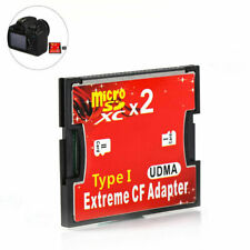 Micro Sd Tf Sdhc 2 Ports Slot to Type I Compact Flash Card Cf Reader Adapter Us
