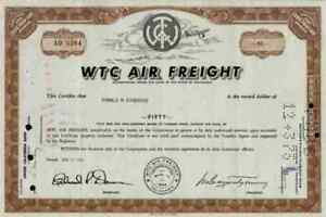 WTC Air Freight 1969 California BAX Global Burlington BAX Global 100 shares