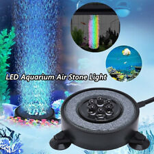 Rgb Led Lighting Aquarium Air Stone Disk Fish Tank Color Changing Light Bubbler