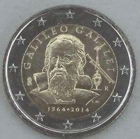 2 Euro Italien 2014 Galileo Galilei unz
