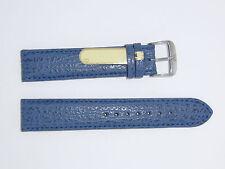 Di-Modell Genuine Shark Leather 19 mm NAVY Waterproof Watch Band SHARKSKIN