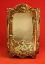 Antique French Fashion Vitrine Display Cabinet - Doll Size Miniature Brevete