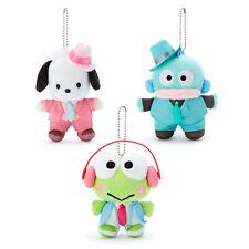 Japan Sanrio Hangyodon / Pochacco / Keroppi Plush Mascot Keychain - Happy Day