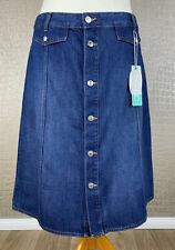 Neu! EDC ESPRIT Damen 44 - 46 Jeansrock Wickel Rock Organic Skirt Denim blau 40B