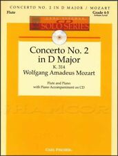 Concerto No2 in D Major for Flute and Piano Sheet Music Book/CD Mozart Classical