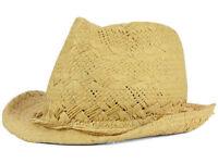 New Peter Grimm Craven Fedora Cap Straw Hat