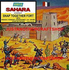 Airfix Ho-OO 1684 1st edición Fort Sahara árabes Legión Poster Cartel Anuncio obra de arte