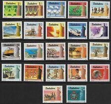 Zimbabwe - SG 659-680 - 1985-88 - Definitive Set of 22 - Unmounted Mint/MNH