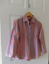 Ben Sherman ~Womens shirt ~multicoloured stripes 3/4 sleeves ~size M