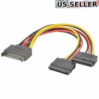 5pcs NEW HDD Hard Drive SATA Power 15-pin Y-Splitter Cable Adapter USA