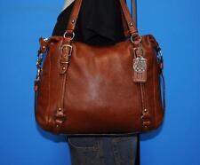 COACH ALEXANDRA Medium Brown Leather Tote Convertible Satchel Purse Bag 15273