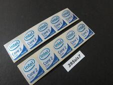 10 Pcs Core 2 Duo Sticker 19mm x 24mm - Silver Head Desktop Size