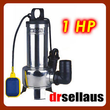 GLONG 1HP STAINLESS SUBMERSIBLE WATER PUMP