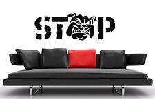 Wall Stickers Vinyl Decal Stop Evil Dog Bulldog Wall Decor  Art Sticker ig016