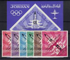 Jordanien 550/55 Bl. 28 postfrisch / Weltraum .........