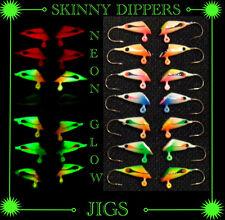 14*Skinny Dipper*Ice Jigs*Glow* Size #10 Hook*Hand Made