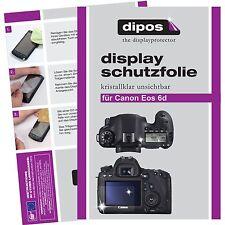 6x dipos Canon EOS 6D Pellicola Prottetiva Transparente Proteggi Schermo