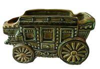 Vintage Green Ceramic NAPCO Stagecoach Planter. Model #C-8271