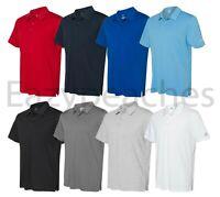 ADIDAS GOLF - Cotton Blend Polo, Mens Sizes S-4XL, Silver Heat Logo Sport Shirt