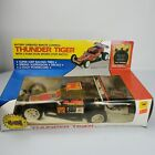 Vintage Thuder Tiger Battery Operated RC Car Buggie 4 Wheeler In Box