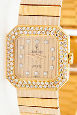 Estate $10,000 CONCORD 2ct VS G Diamond 18k Yellow Gold Ladies Dress Watch 53g