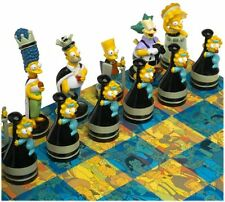 Simpsons CHESS SET With Laminated Fold Up Playing Board Collectible Toy 99160