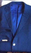 Aquascutum London deep navy wool blazer 2 button single breasted size 44 R