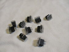 Lot (10pcs w/ Cap) KCD11 Mini 10*15mm Rocker On/Off 2-Pin Switches, Black