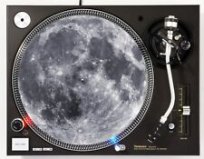 Turntable Moon Cover | Record Player Slipmat Decoration | B&W Print Dust Pad