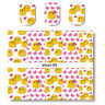 2 Sheets Nail Art Water Transfer Decal Manicure Sticker Lovely Emoticon Theme
