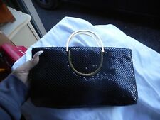 Vintage Black Sparkling Purse Gold Handles