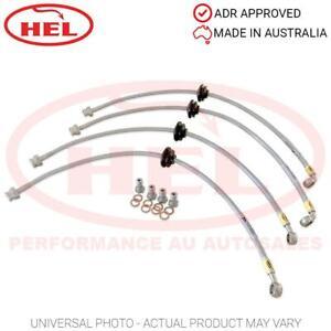 HEL Performance Braided Brake Lines - Hyundai Accent 1.5TD 02-03