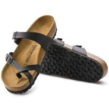 2bdae30b855 Birkenstock Mayari Black Womens Leather Sandals Shoes 6 UK 39 EU 8 US