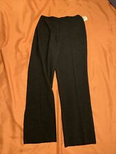 "R&K Originals Size 10 Black Dress Pants Polyester Flat Front 30"" Inseam"