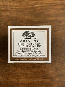 ORIGINS HIGH-POTENCY NIGHT-A-MINS RESURFACING CREAM/W FRUIT-DERIVED AHA 1oz/30m