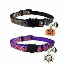 Halloween Cat Collar with Bell, Holiday Kitty Kitten Breakaway Pumpkim 2 Pack