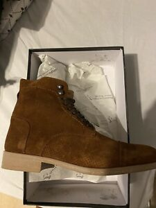 Man Boots In Leather Suede Italian Manufacturers Size 7