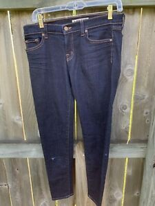 J Brand Size 30 935 Ink Cropped Jeans Distressed Medium Wash Blue Denim Pants